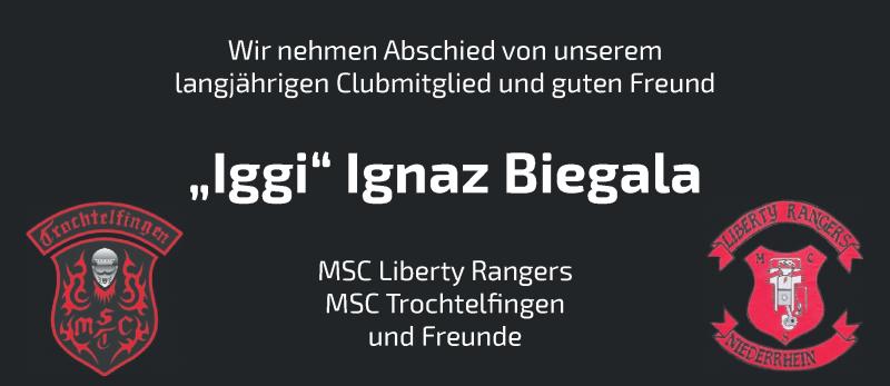 Traueranzeige für Ignaz Biegala vom 16.10.2019 aus