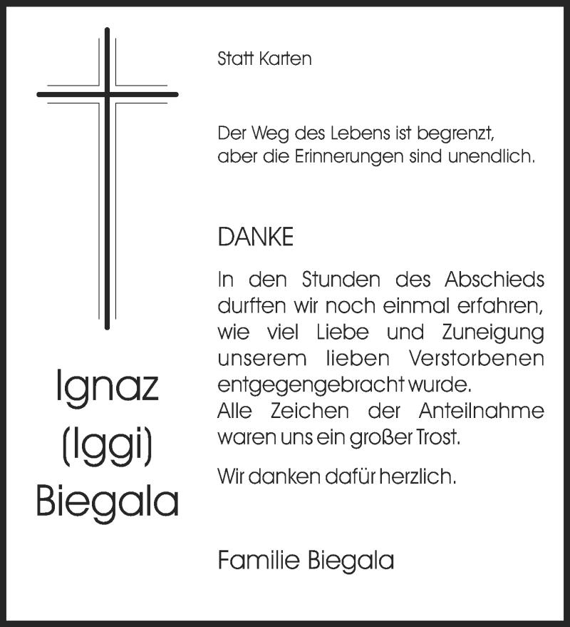 Traueranzeige für Ignaz Biegala vom 09.11.2019 aus